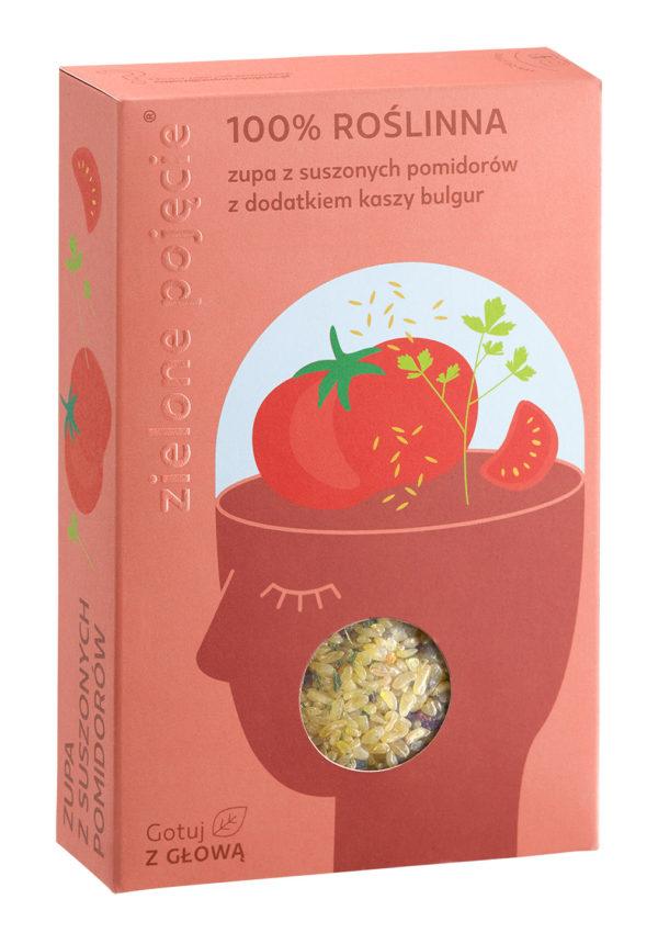Zupa z Suszonych Pomidorów z Dodatkiem Kaszy Bulgur